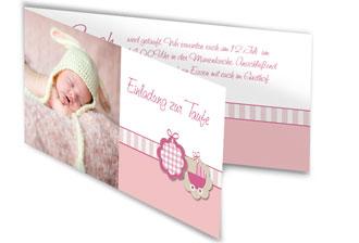 Einladungskarten zur Taufe selbst gestalten.
